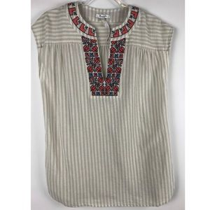 Madewell Embroidered Belize Cover-Up Tunic